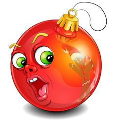 surprised christmas ball vector image vector image