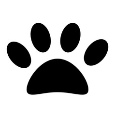 Animal paw print vector image vector image