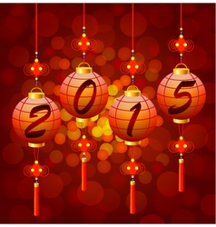 Chinese New Year lanterns 2015 vector image