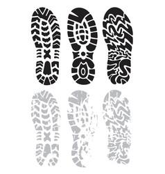 footprint shoes vector image vector image