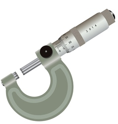 micrometer isolated on a white background vector image vector image
