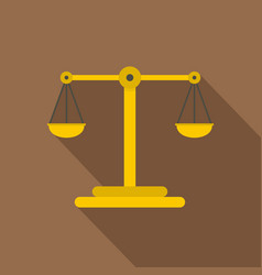 scales of justice icon flat style vector image