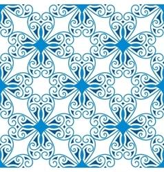 seamless pattern of blue geometric symbol vector image