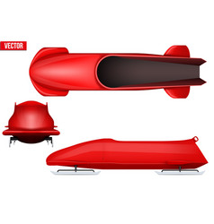set of bobsleigh for two athletes vector image vector image