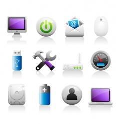titaniun computer icons vector image