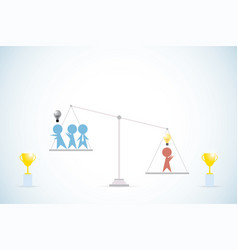 Businessman with idea vs businessmen without idea vector