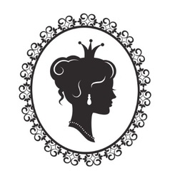 elegant princess in the frame vector image