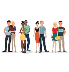International Couple of young people students Man vector image vector image