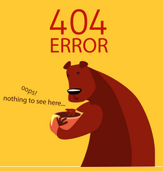 page with 404 error in cartoon style vector image