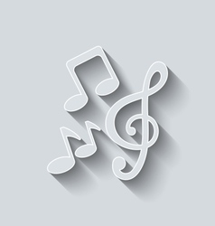 Stylish Music Icons with Long Shadows vector image vector image