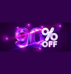 90 percent off discount creative composition 3d vector
