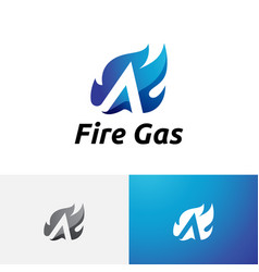 A letter burning hot fire flame initial logo vector