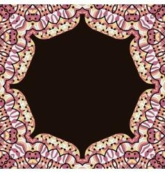 Abstract circle floral ornamental border vector