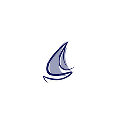 Abstract sailboat business vector