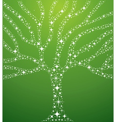 Abstract stars tree vector