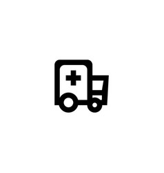 ambulance icon symbol sign vector image