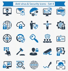 Anti virus and Security icons - Set 4 vector