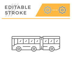 articulated bus line icon vector image