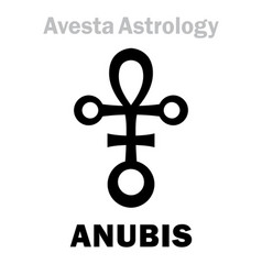 Astrology astral planet anubis vector