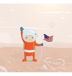 Astronaut on the Moon Design vector