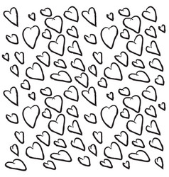 background of black hearts for valentines day vector image