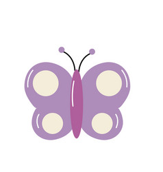 Beauty butterfly animal with wings vector
