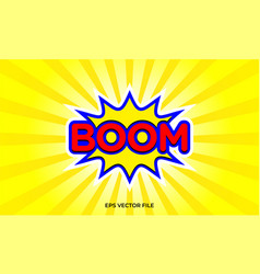 boom spark splash surprise wordmark logo vector image