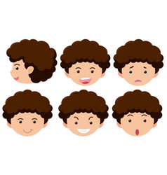 boy with different expressions vector image