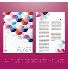 Brochure flyer template design with triangle vector