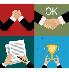 business leadership in flat vector image