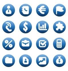 Buttons for business vector image vector image