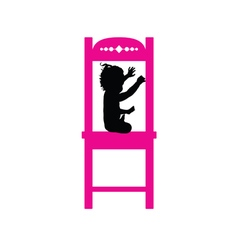 Child on chair pink vector