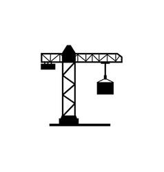 crane icon elements of constraction icon premium vector image