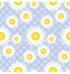 cute classic daisy flowers seamless pattern vector image