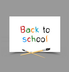 drawing back to school on paper vector image