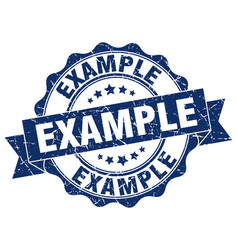 Example stamp sign seal vector