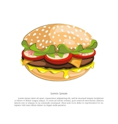 Figure tasty burger on a white background vector image