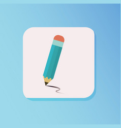 flat pencil draw icon style with blue gradient vector image