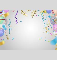 flying mega set of colorful shiny holiday vector image