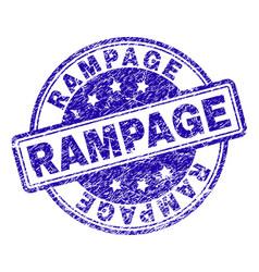 Grunge textured rampage stamp seal vector