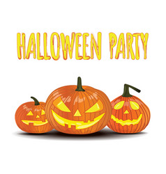 Halloween party isolated pumpkin vector