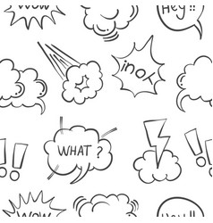 Hand draw text balloon collection stock vector