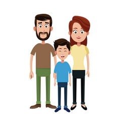 Happy family icon vector
