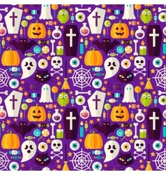 Happy Halloween Seamless Background vector image