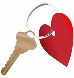 heart symbol and house key vector image