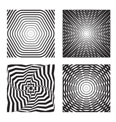 hypnotic background set 2 vector image
