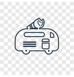 ice cream van concept linear icon isolated on vector image