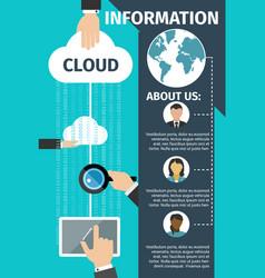 Internet cloud data web technology poster vector