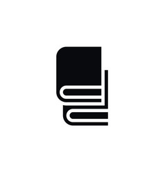 isolated book-rack icon bookstore element vector image