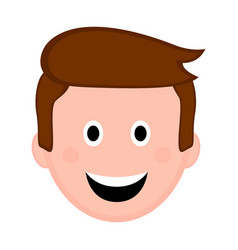 isolated happy man avatar vector image